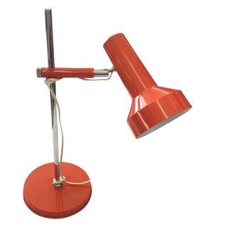 Orange Mid-Century Modern Desk Lamp