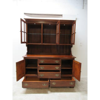 Stickley Furniture Cherry Chippendale China Cabinet Preview