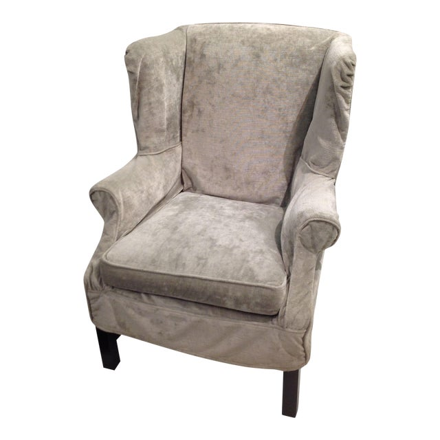 Lee Industries Washable Slipcover Wing Chair For Sale