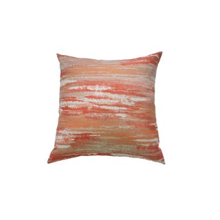 Orange Abstract Throw Pillow For Sale