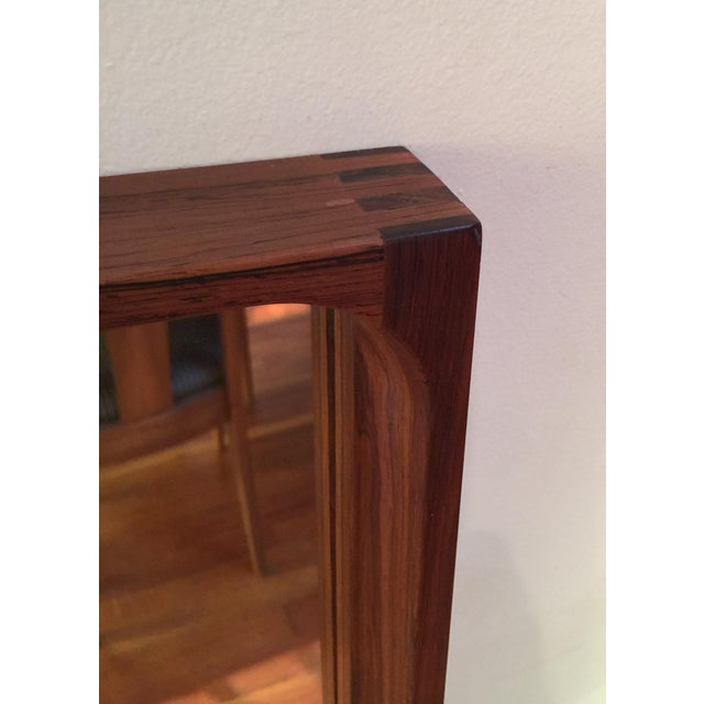 Brown Mid-Century Glass Master Markaryd Rectangular Mirror For Sale - Image 8 of 9