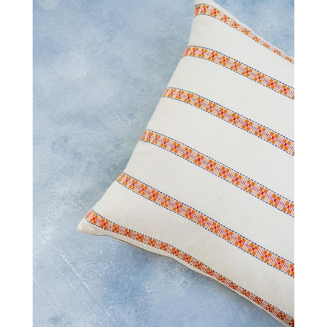 Contemporary Asima Organic Cotton Handwoven Pillow 12x18 For Sale - Image 3 of 8