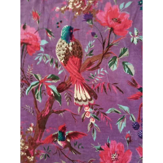 10 yards 45 inches wide cotton upholstery velvet . Amazing vibrant chinoiseri design of birds and flowers. Great for a...