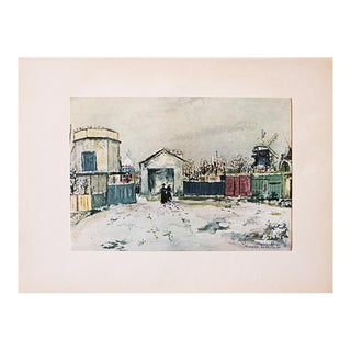 1950s M. Utrillo, the Philosopher's Tower First Edition Lithograph For Sale