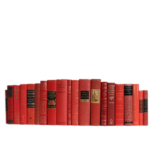 Traditional Liberal Arts Selections in Scarlet : Set of Twenty Decorative Books For Sale - Image 3 of 3