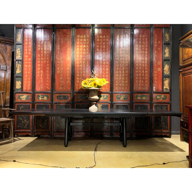 Mid-Century Modern Extension Dining Table Attributed to Guillerme Et Chambron For Sale - Image 11 of 12