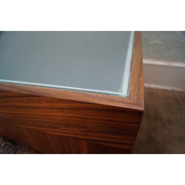 Solid Walnut Cube End Tables - A Pair For Sale - Image 10 of 10