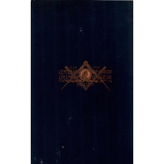 """1895 """"Centenary of Columbian Lodge"""" Collectible Book For Sale"""
