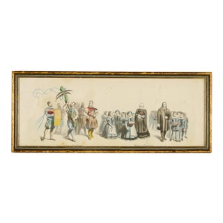 "Antique Framed German Bookplate, ""Pupils of the Orphanage"" For Sale"