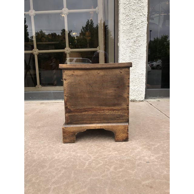 19th Century George III Oak Trunk For Sale - Image 4 of 8