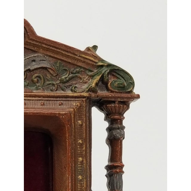 Early 19th Century Antique Cast Iron Photo Frame - Italianate Renaissance/Victorian/Style For Sale - Image 5 of 10