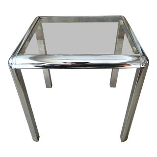 Vintage Mod Chrome Side Table For Sale