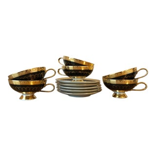 Final Price! Vintage Mid Century Rudolph Wachter Cups and Saucers- 11 Pieces For Sale