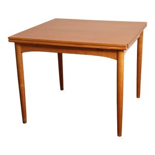 Danish Mid Century Sap Walnut Game Table For Sale