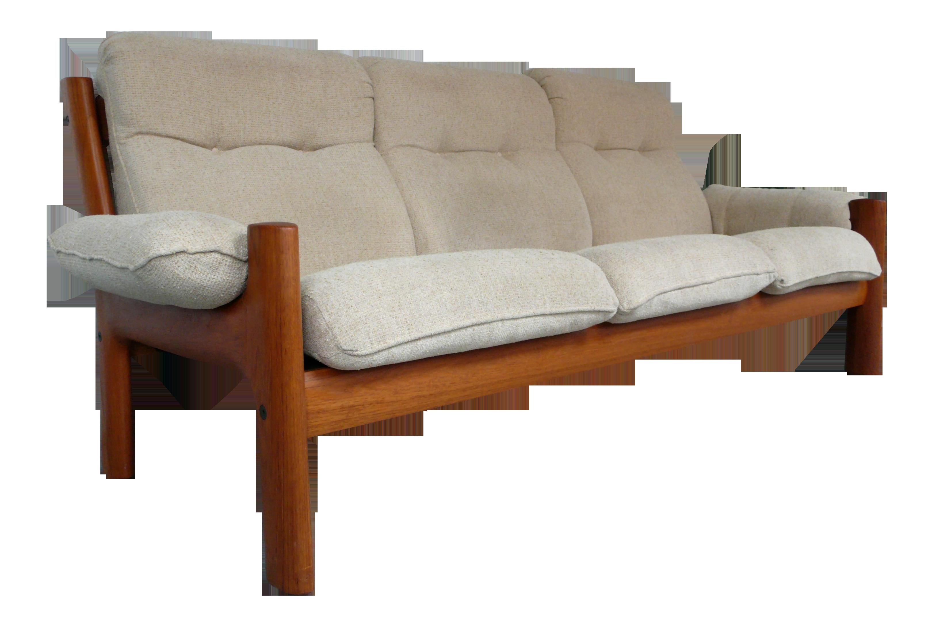 Amazing Norwegian Teak Sofa By Ekornes   Image 1 Of 9