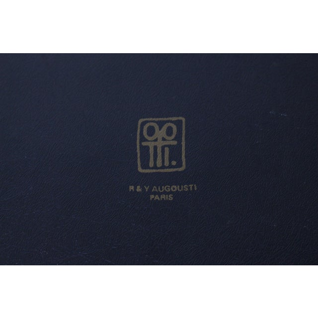R & Y Augousti Paris Mother of Pearl & Wood Box, 90s For Sale - Image 9 of 10