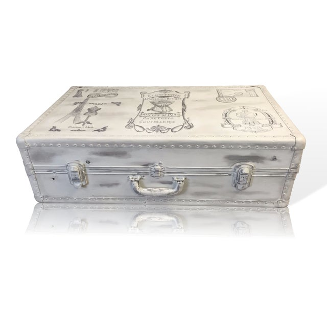 Vintage Trunk Queen Anne Coffee Table - Image 7 of 12