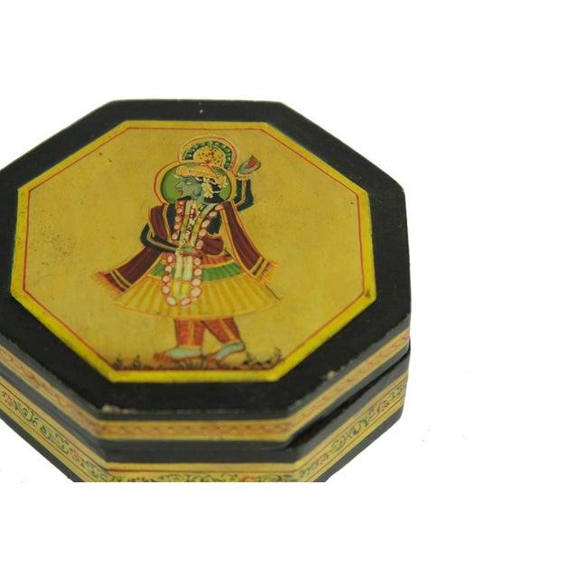 Boho Chic Hem Mughal Painted Box For Sale - Image 3 of 3