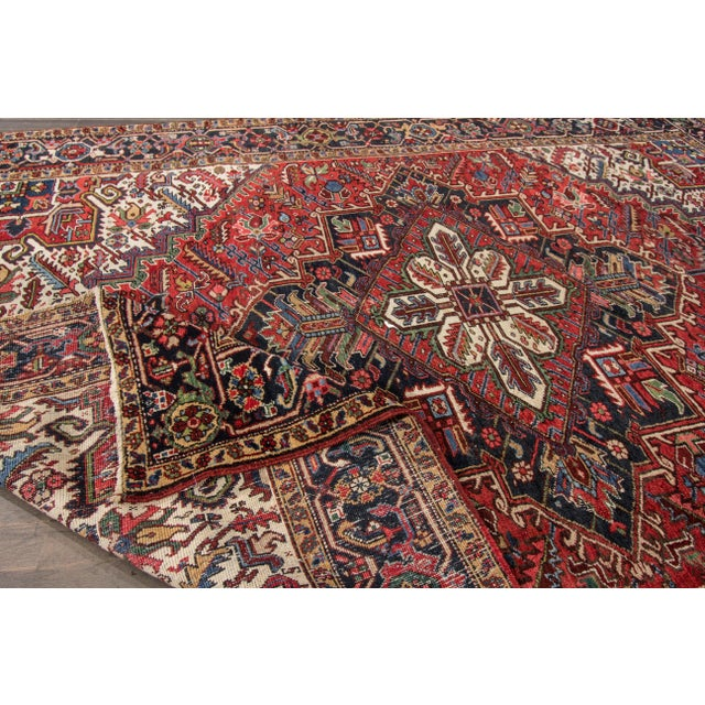 "Islamic Apadana - Vintage Persian Heriz Rug, 7'9"" x 10'9"" For Sale - Image 3 of 7"