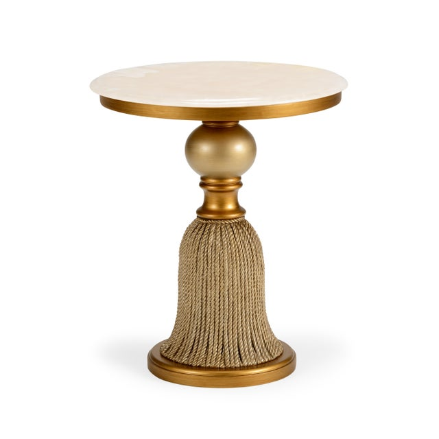 Contemporary Chelsea House Inc Tassel Side Table For Sale - Image 3 of 3