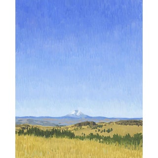 Time and Space: Mount Hood in the Columbia Gorge - Original Oil Painting For Sale