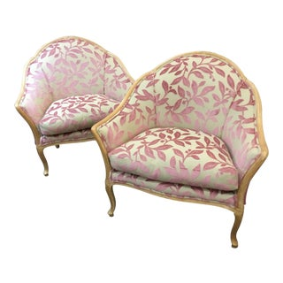 Vintage Oversized French Chairs - a Pair For Sale