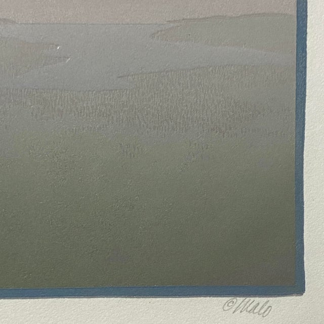 "1986 ""Wetlands"" Minimalist Linocut Print by Teri Malo For Sale - Image 4 of 6"