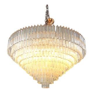 Contemporary Murano Sputnik Triedo Glass Chandelier