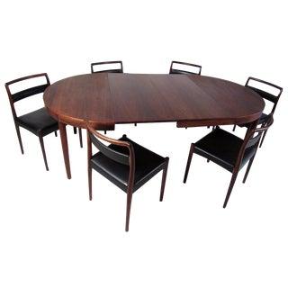 Scandinavian Rosewood Dining Set by Randers Møbelfabrik For Sale