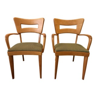 Heywood Wakefield Dogbone Captain's Chairs - a Pair For Sale