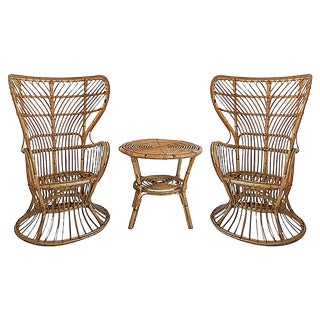 Franco Albini Peacock Table & Chair Set For Sale