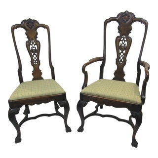 Portuguese Style Side Chairs - a Pair For Sale