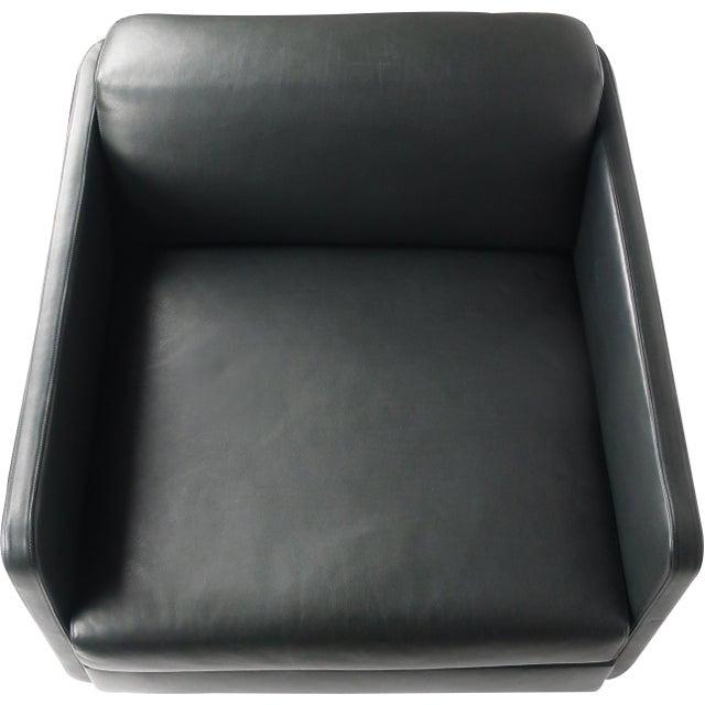 Black Leather Gaia Armchair