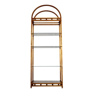 1970s Vintage Italian Hollywood Regency Etagere For Sale
