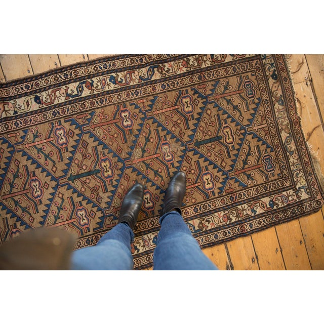 """Old New House Antique Hamadan Rug - 3'8"""" X 6'3"""" For Sale - Image 4 of 9"""