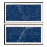 Nautical Constellation Framed Map Prints - Set of 2