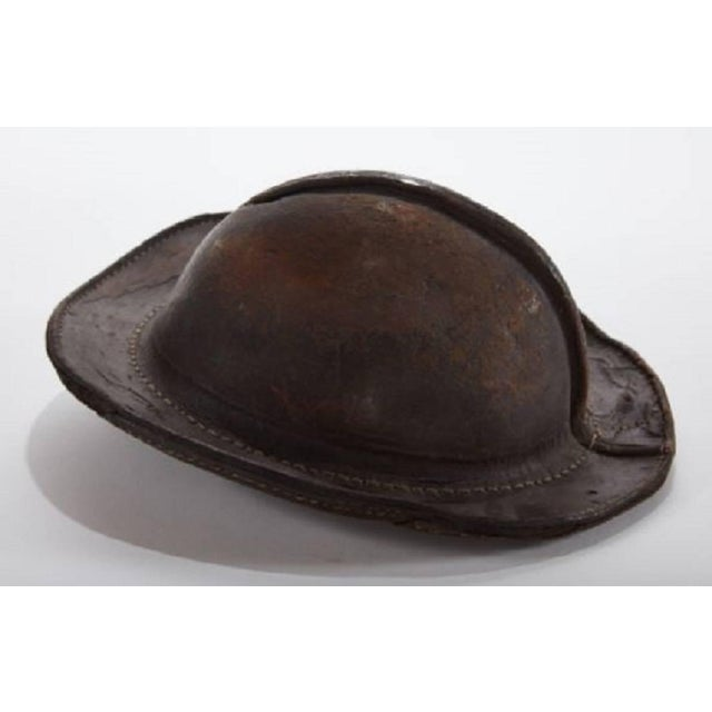 19bfd0199424 Early 19th century Italian leather military cap Unique object with worn,  yet sturdy, wonderful
