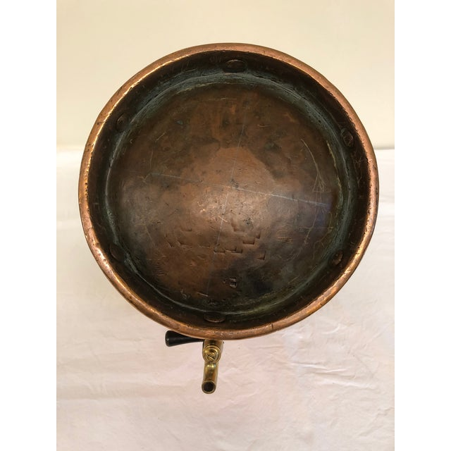 1900s Brass & Copper Nautical Water Vessel For Sale - Image 5 of 8