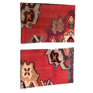 """S/2 Custom Made Old Turkish Tribal Kilim Pillows Cover 16"""" by 24"""" Preview"""