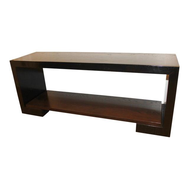 21st Century Two-Tone Walnut Custom Bench For Sale