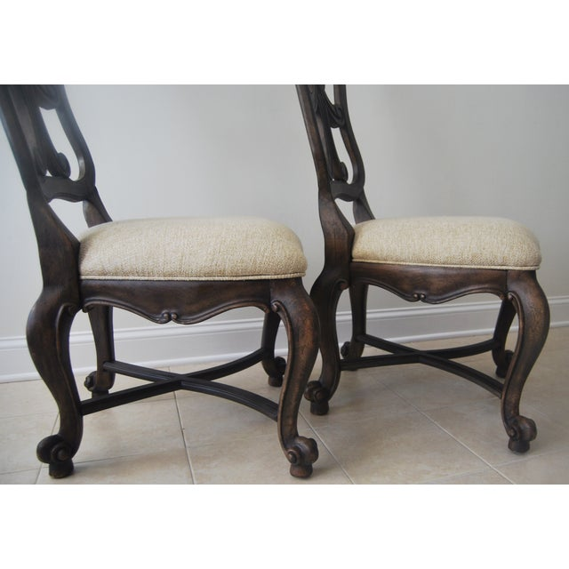 A Pair of French Style Wood Back Side Chairs - Image 4 of 11