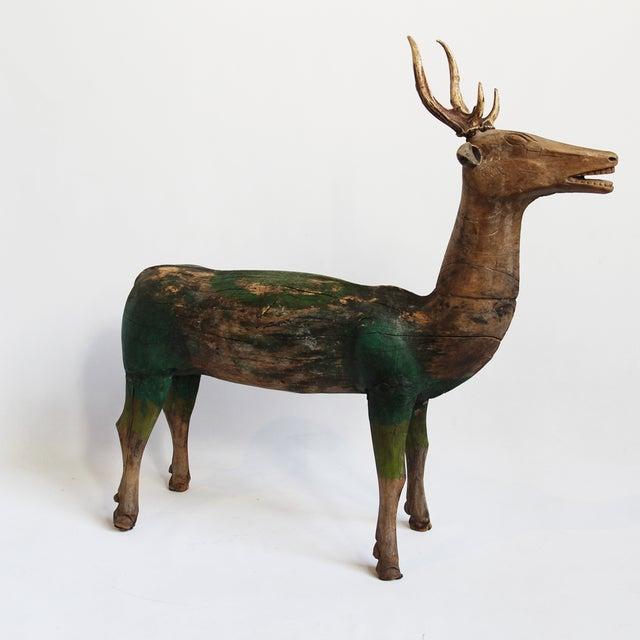 Javanese Antique Javanese Wooden Deer For Sale - Image 3 of 5
