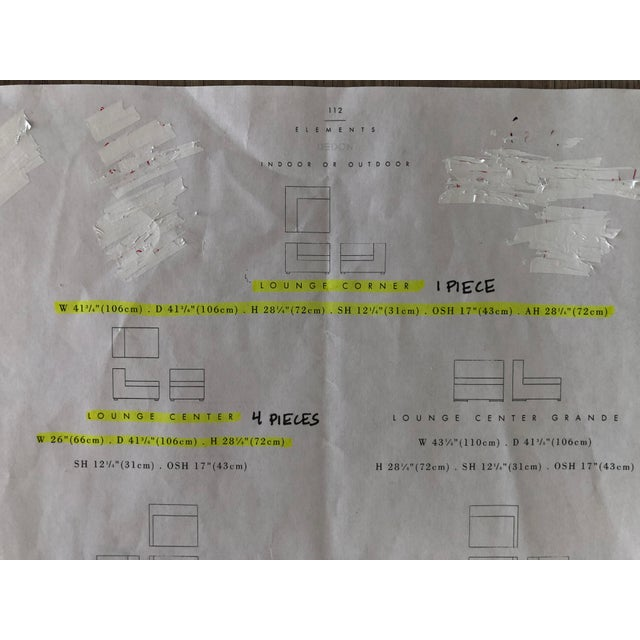 Janus Et Cie Dedon Sectional Sofa For Sale - Image 9 of 13