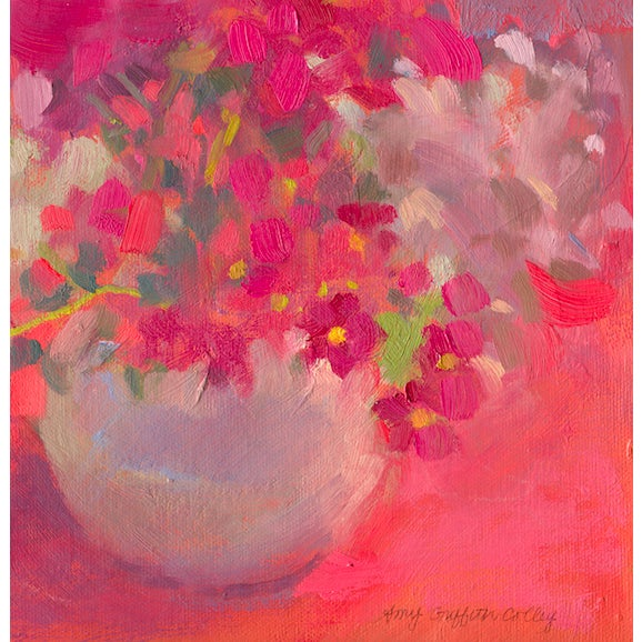 Such a sweet little spring bouquet! The piece is by artist Amy Griffith Colley. This is a print (giclee) of the original...