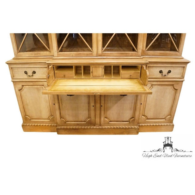 """Saginaw Furniture Country French Regency 72"""" Secretary Display China Cabinet For Sale In Kansas City - Image 6 of 13"""