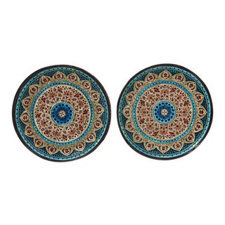 French Jules Viellard Bordeaux Plates - Pair