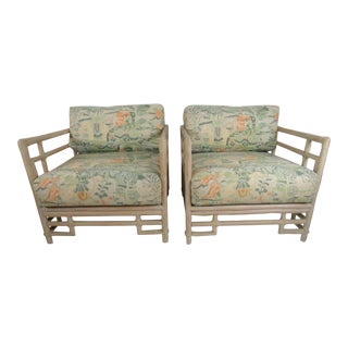 Vintage Mid Century Ficks Reed Armchairs - a Pair For Sale