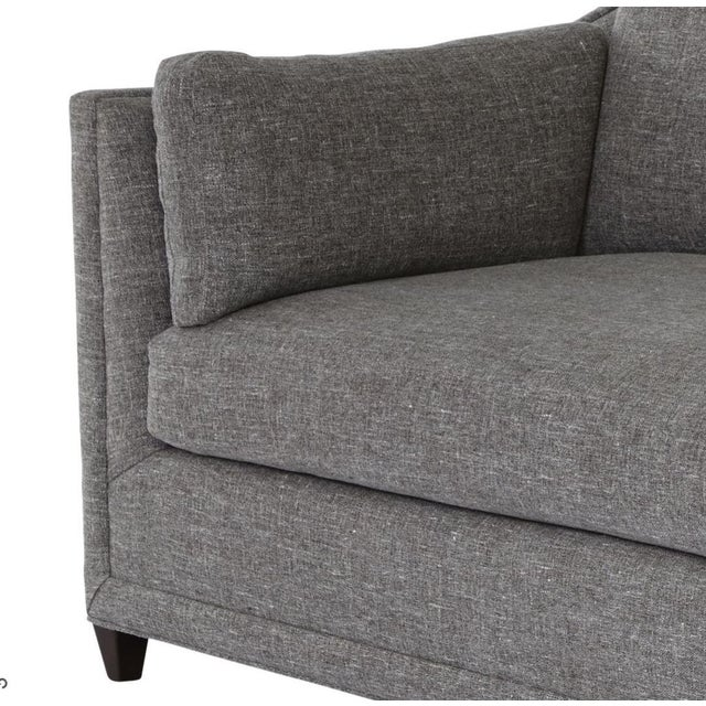 Wood Contemporary Gray Pippa Sofa For Sale - Image 7 of 8