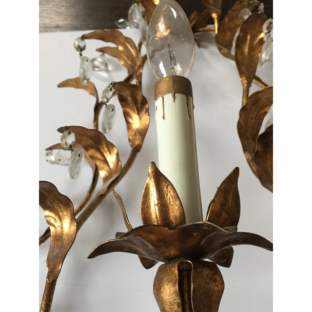 Antique Gilt Sconces - A Pair For Sale In New York - Image 6 of 7
