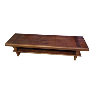 20th Century Danish Modern Altavista Lane Solid Walnut Coffee Table For Sale